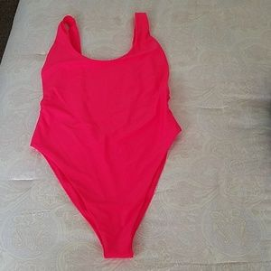 Bathing Suit Hot Pink